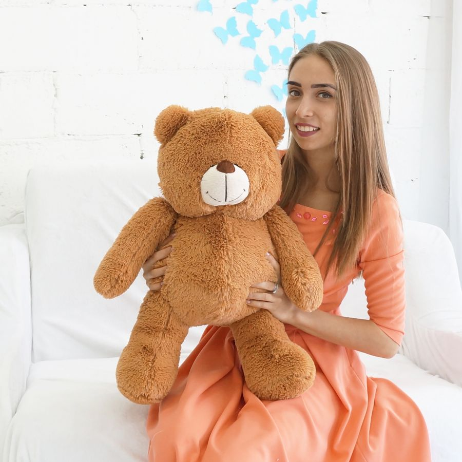 """Мишка ТОМ (Д-60см) Шоколадный """"Premium Quality"""""""