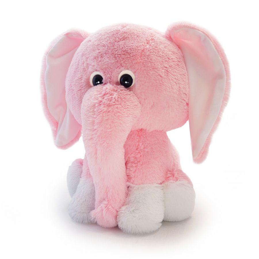 Слоненок Леон (ОР - 75см)(Д - 60см) Розовый