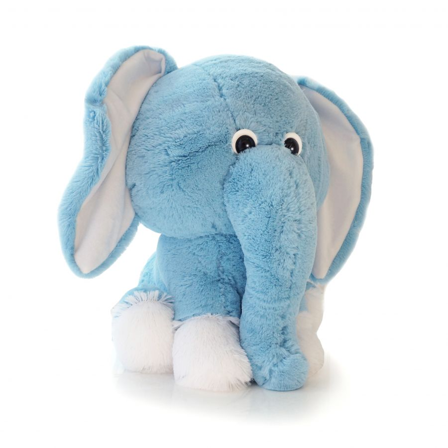 Слоненок Леон (ОР - 75см)(Д - 60см) Голубой