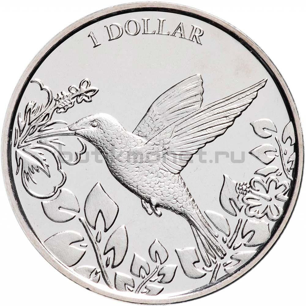 1 доллар 2017 Виргинские острова Колибри