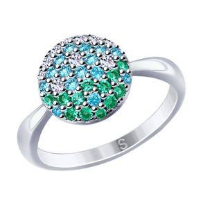 Кольцо из серебра с фианитами 94012532 SOKOLOV