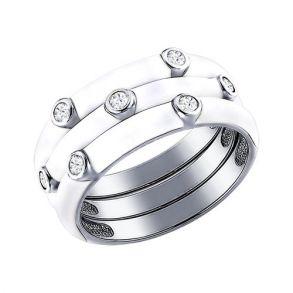 Наборное кольцо с эмалью 94011147 SOKOLOV