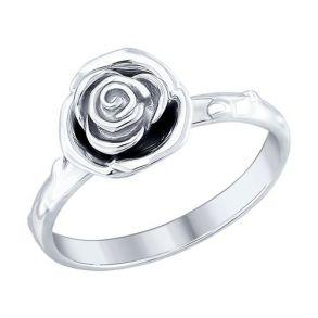 "Кольцо из серебра ""Роза"" 94012424 SOKOLOV"