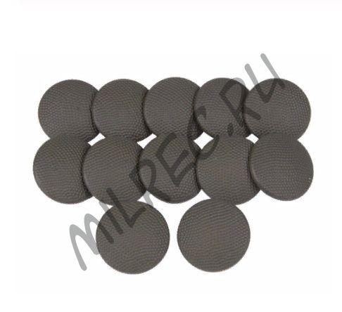 Пуговицы аллюминиевые кительные 19мм. комплект из 12 штук (реплика)