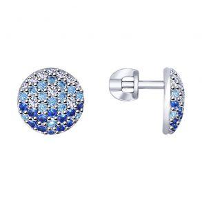 Серьги из серебра с фианитами 94022790 SOKOLOV