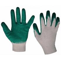 Перчатки ХБ с 1-ным латексным покрытием.