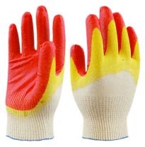 Перчатки ХБ  с 2-латексным покрытием Люкс