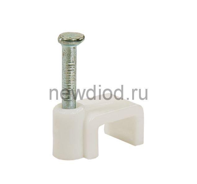 Скоба плоская СП-06 6мм (100штук/упаковка) IN HOME