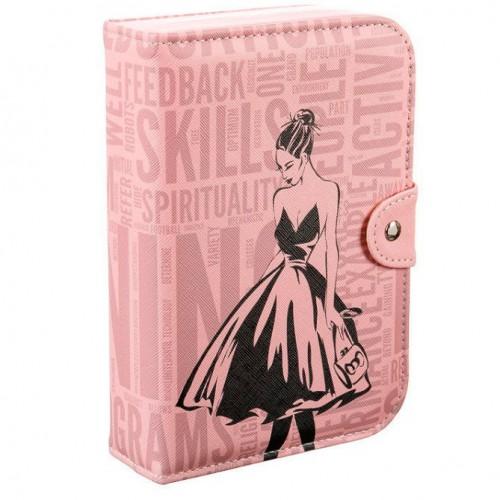 Шкатулка для украшений Книжка, 14х5х20 см, Цвет Розовый