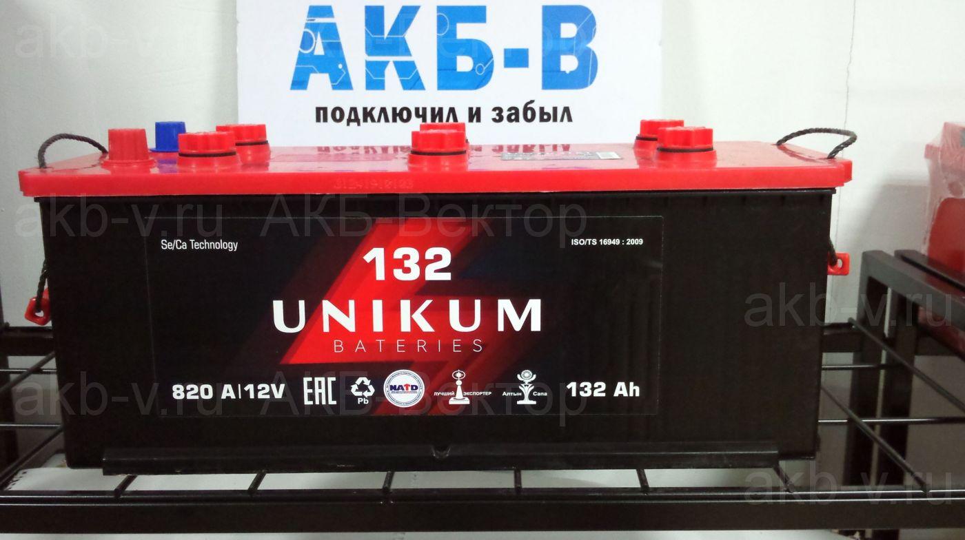 Unikum 132Ач 820А(EN) 6СТ-132