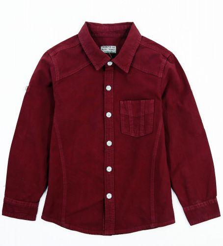 """Рубашка для мальчиков 7-10 лет Bonito Jeans """"Gool"""" бордовая"""