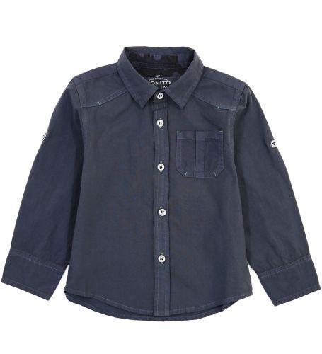 Рубашка для мальчиков 2-5 лет Bonito Jeans, темно-серая