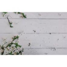"""Фотофон винил """"Белые доски с цветущей яблонью"""" 80х125 см 2778323"""