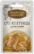Деревенские лакомства пауч для кошек суп из курицы с уткой и тыквой 35г