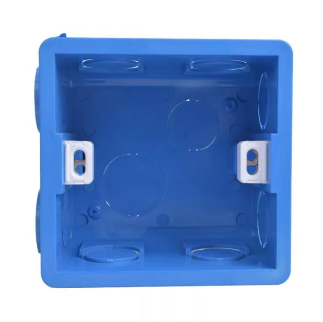 Подрозетник COSWALL Transparent Mounting Box Internal Cassette 86х83х50 ( Синий )