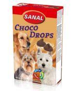 SANAL Лакомство Choco Drops со вкусом шоколада 125г
