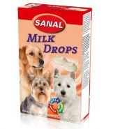SANAL Лакомство Milk Drops со вкусом молока 125г
