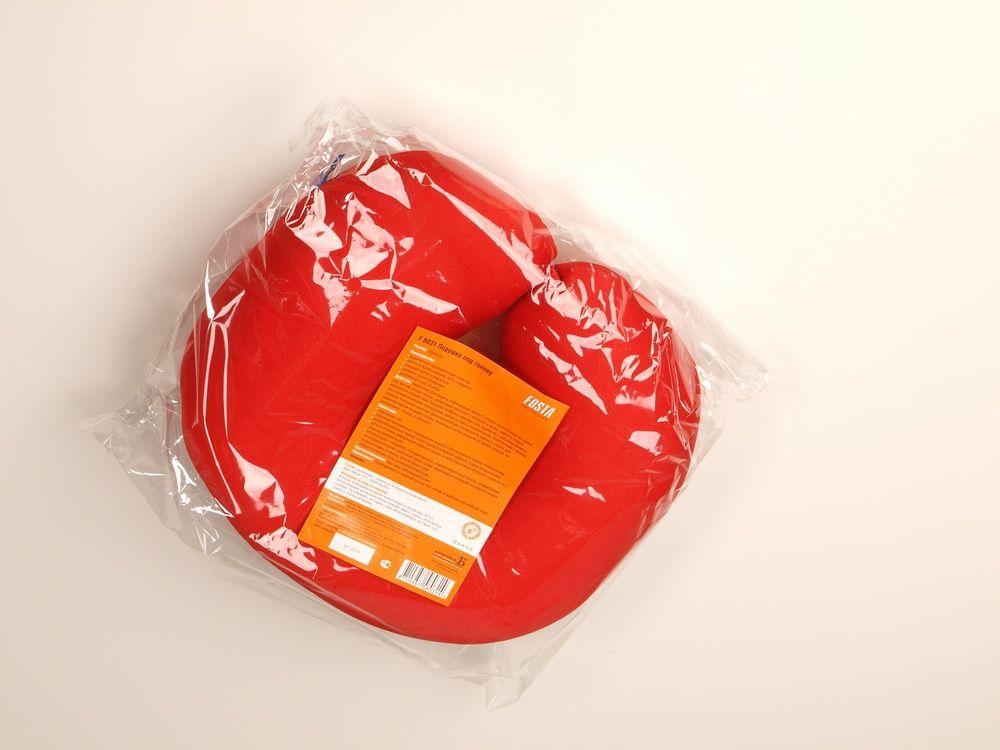 Подушка под голову с микрогранулами, в форме подковы