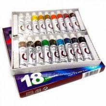 Набор масляных красок 18 цветов, туба 12 мл Marie's