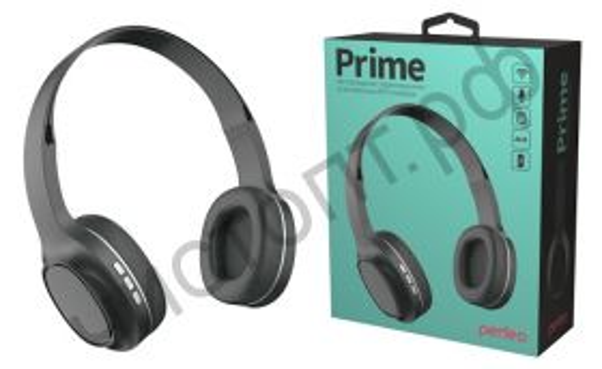 Bluetooth гарнитура стерео Perfeo PRIME MP3 чёрные полноразмер