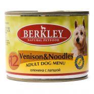 Корм для собак Berkley №12 оленина с лапшой консервированный 200