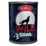 Berkley Adult Dog Wild №3 Консерва для взрослых собак с мясом кабана, пастернаком, сладким луком и лесными ягодами - 400 гр
