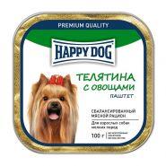Happy Dog Паштет для собак мелких пород с ягнёнком и рисом, 100 г