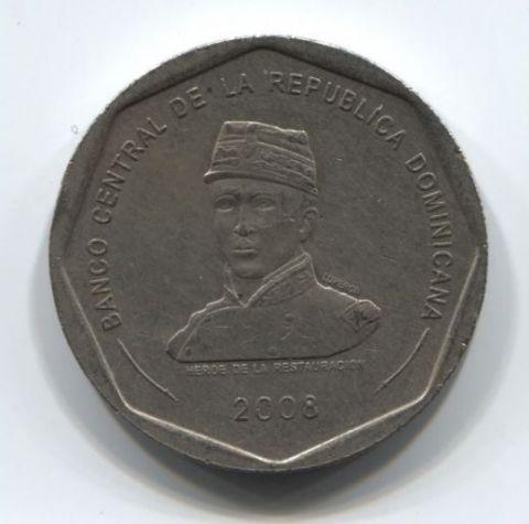 25 песо 2008 года Доминиканская Республика