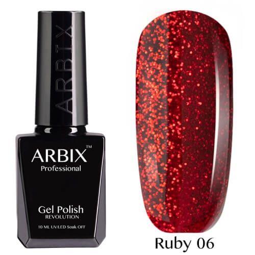 Arbix 006 Ruby Красный Песок Гель-Лак , 10 мл