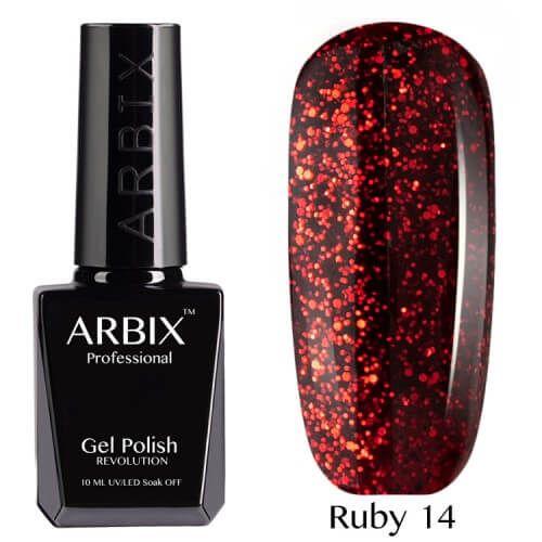 Arbix 014 Ruby Огненный Феникс Гель-Лак , 10 мл