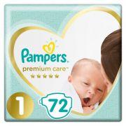 Подгузник PAMPERS Premium Care Newborn 1 (2-5 кг), 1 шт./PAMPERS