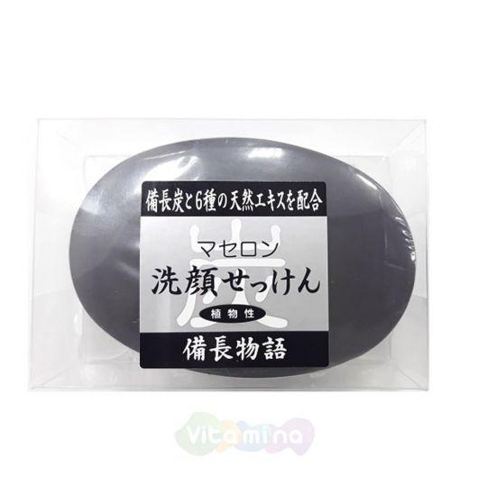 Masudaya Натуральное косметическое мыло для лица с углем и растительными экстрактами,  90 г