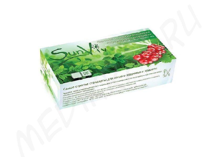 Перчатки SanViv смотровые виниловые нестерильные гладкие неопудренные L прозрачные