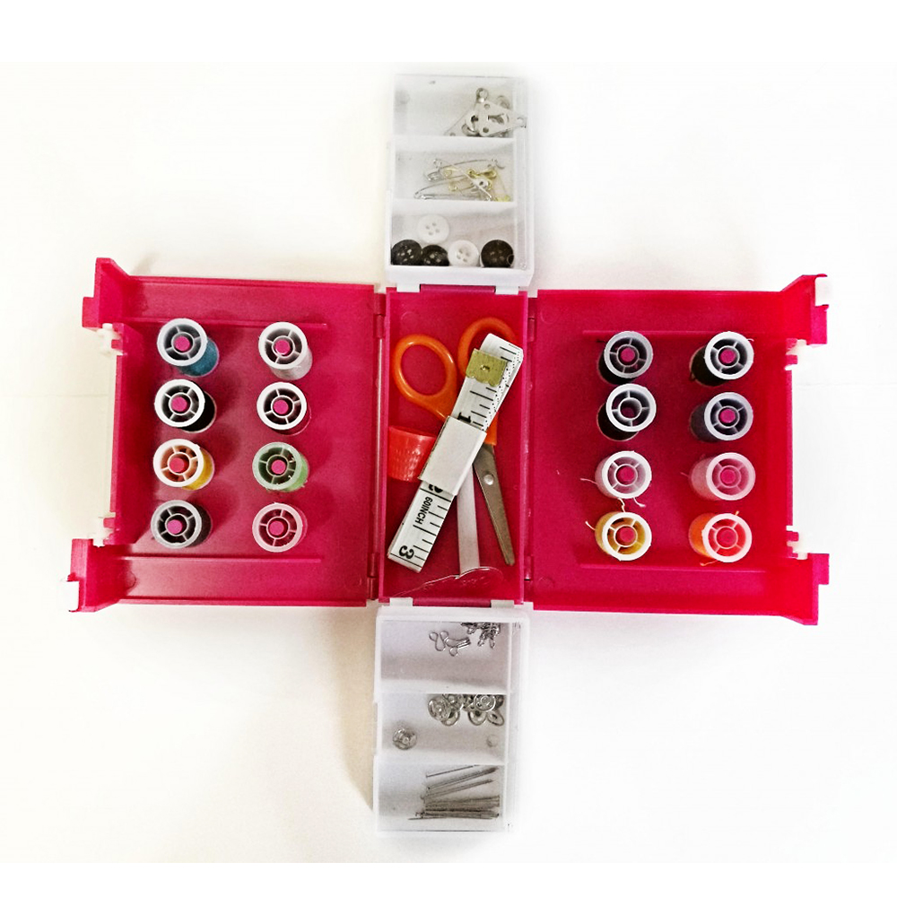 Компактный складной набор для шитья Super Mini Sewing Box, 11,5х5,5х9 см