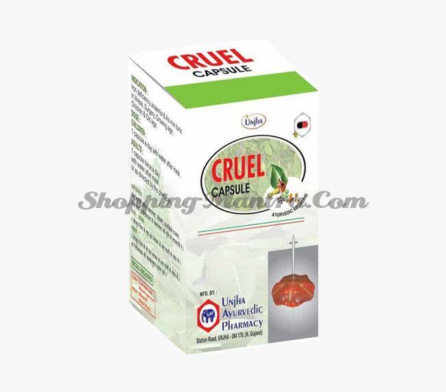Противоопухолевый иммуномодулятор Круэл Капсулы Unjha Ayurvedic Pharmacy Cruel Capsules