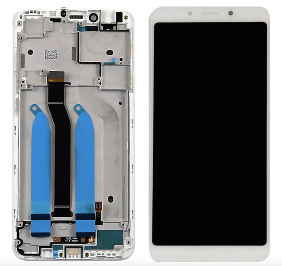 LCD (Дисплей) Xiaomi Redmi 6/Redmi 6A (в сборе с тачскрином) (в раме) (white) Оригинал