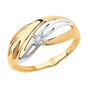 Кольцо из золота с фианитом 018181 SOKOLOV