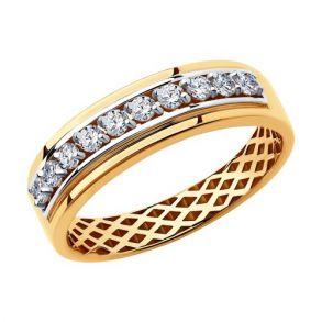 Кольцо из золота с фианитами 018260 SOKOLOV
