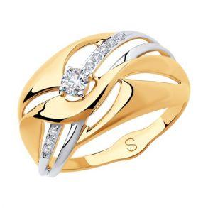 Кольцо из золота с фианитами 018267 SOKOLOV