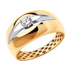 Кольцо из золота с фианитом 018380 SOKOLOV