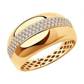 Кольцо из золота с фианитами 018382 SOKOLOV