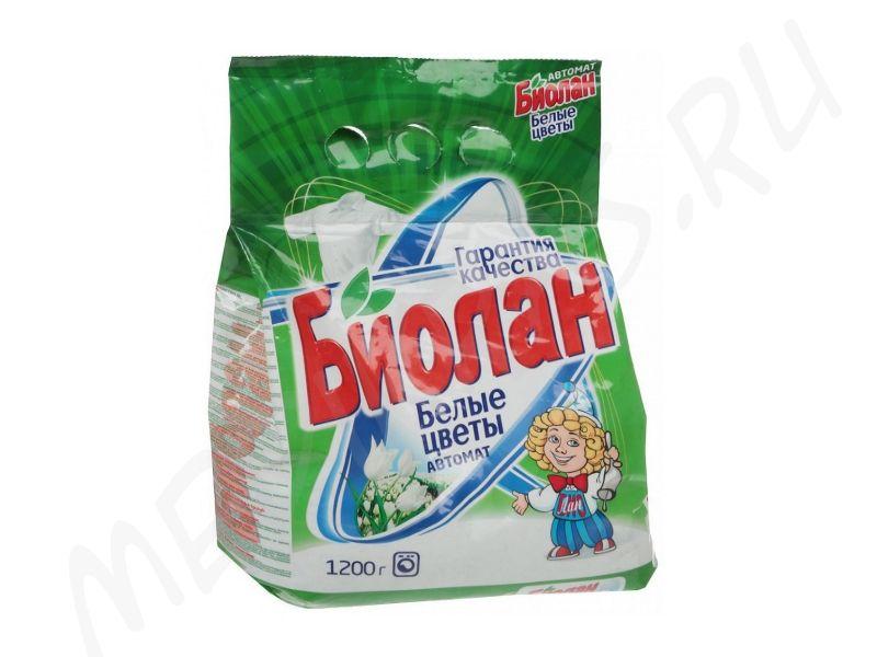 """Стиральный порошок """"Биолан"""" автомат Белые цветы 1,2 кг"""