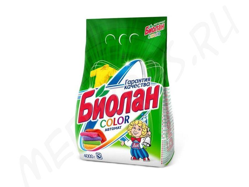 """Стиральный порошок """"Биолан"""" автомат Колор 2,4 кг"""