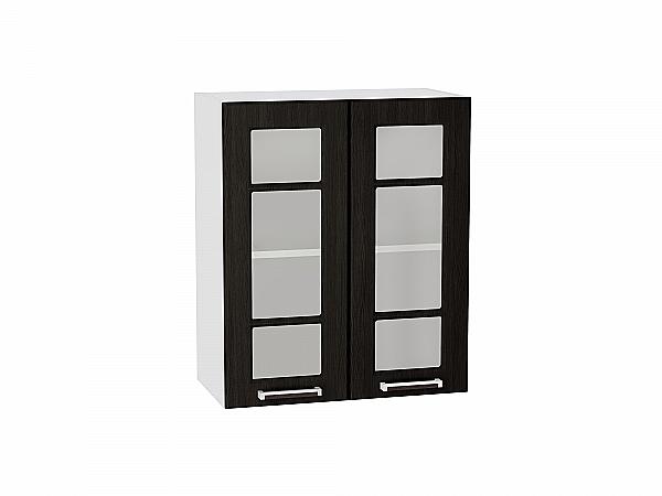 Шкаф верхний Прага В609 со стеклом (Венге Премиум)