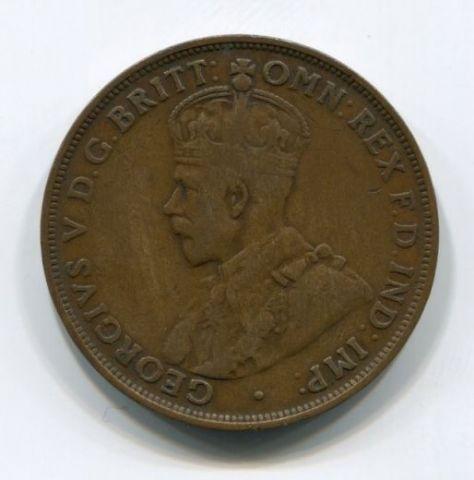 1 пенни 1921 года Австралия