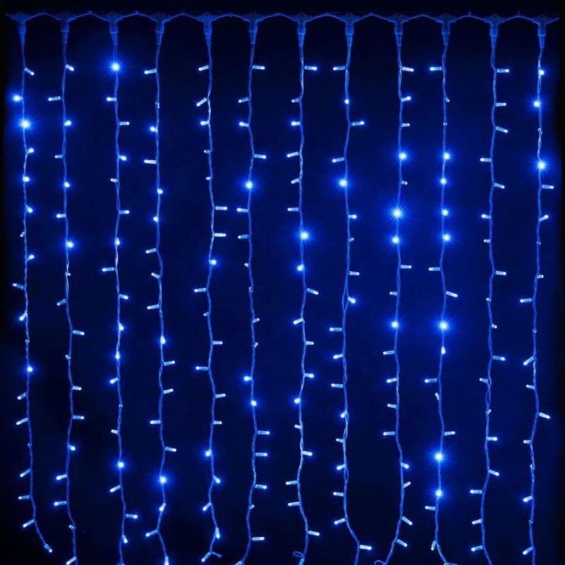 Светодиодная Гирлянда Шторка 200 LED, 1.8х1.8 м, Цвет Свечения Синий