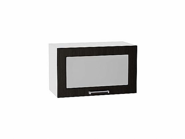 Шкаф верхний Прага ВГ600 со стеклом (Венге Премиум)