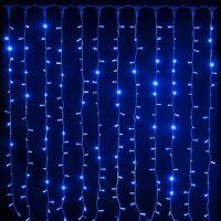Светодиодная Гирлянда Шторка, цвет свечения Синий