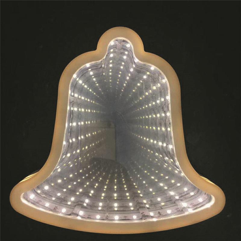 Зеркальный Ночник С Эффектом Бесконечности, Форма Колокольчик