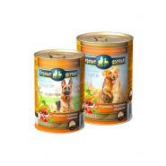 """Верные друзья Консерва для собак """"Курица, телятина, морковь"""" кусочки в соусе, 400 гр"""